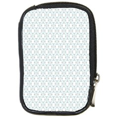 Web Grey Flower Pattern Compact Camera Cases