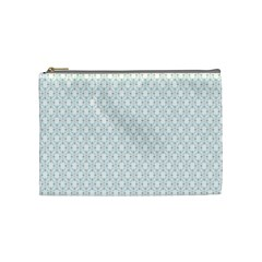Web Grey Flower Pattern Cosmetic Bag (Medium)