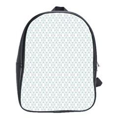 Web Grey Flower Pattern School Bags(Large)