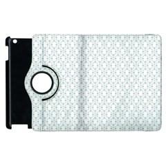 Web Grey Flower Pattern Apple iPad 3/4 Flip 360 Case