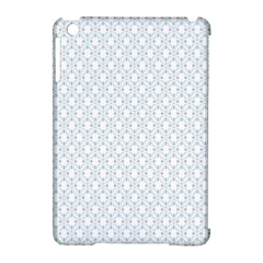 Web Grey Flower Pattern Apple iPad Mini Hardshell Case (Compatible with Smart Cover)