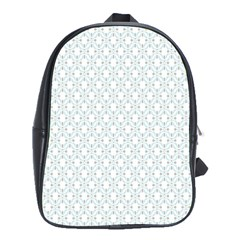 Web Grey Flower Pattern School Bags (XL)