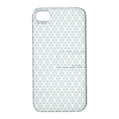 Web Grey Flower Pattern Apple iPhone 4/4S Hardshell Case with Stand