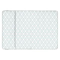 Web Grey Flower Pattern Samsung Galaxy Tab 8.9  P7300 Flip Case