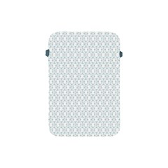 Web Grey Flower Pattern Apple iPad Mini Protective Soft Cases