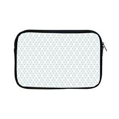 Web Grey Flower Pattern Apple iPad Mini Zipper Cases
