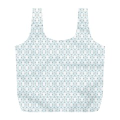 Web Grey Flower Pattern Full Print Recycle Bags (L)