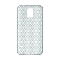 Web Grey Flower Pattern Samsung Galaxy S5 Hardshell Case