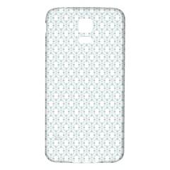 Web Grey Flower Pattern Samsung Galaxy S5 Back Case (White)