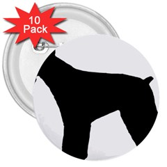 Giant Schnauzer Silo 3  Buttons (10 pack)