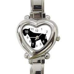 Giant Schnauzer Silo Heart Italian Charm Watch