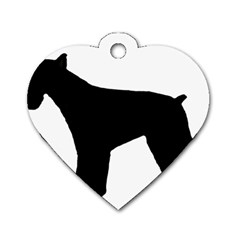 Giant Schnauzer Silo Dog Tag Heart (One Side)