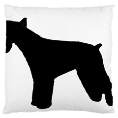 Giant Schnauzer Silo Large Flano Cushion Case (Two Sides)