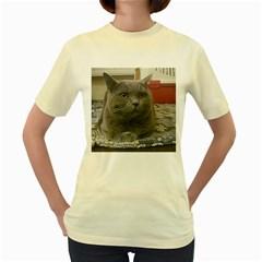British Shorthair Grey Women s Yellow T-Shirt