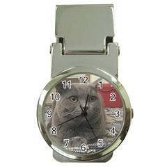 British Shorthair Grey Money Clip Watches