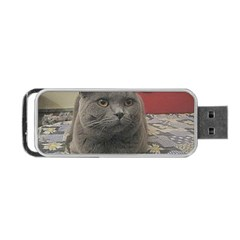 British Shorthair Grey Portable USB Flash (Two Sides)