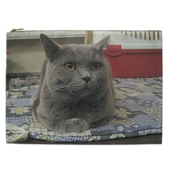 British Shorthair Grey Cosmetic Bag (XXL)