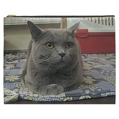 British Shorthair Grey Cosmetic Bag (XXXL)