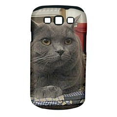 British Shorthair Grey Samsung Galaxy S III Classic Hardshell Case (PC+Silicone)