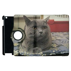 British Shorthair Grey Apple iPad 3/4 Flip 360 Case