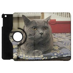 British Shorthair Grey Apple iPad Mini Flip 360 Case