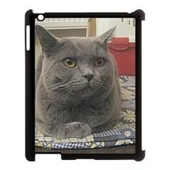 British Shorthair Grey Apple iPad 3/4 Case (Black)