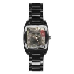 British Shorthair Grey Stainless Steel Barrel Watch