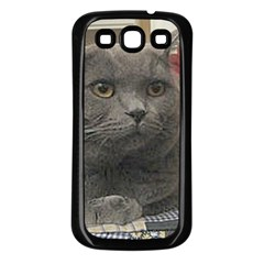 British Shorthair Grey Samsung Galaxy S3 Back Case (Black)
