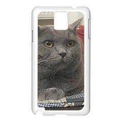 British Shorthair Grey Samsung Galaxy Note 3 N9005 Case (White)