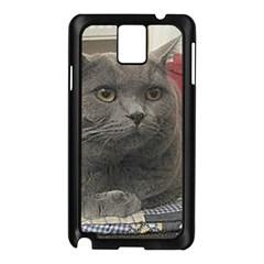British Shorthair Grey Samsung Galaxy Note 3 N9005 Case (Black)