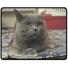 British Shorthair Grey Double Sided Fleece Blanket (Medium)