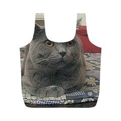 British Shorthair Grey Full Print Recycle Bags (M)