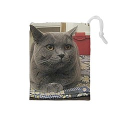 British Shorthair Grey Drawstring Pouches (Medium)