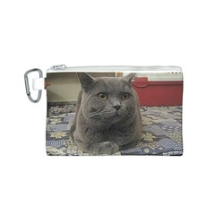 British Shorthair Grey Canvas Cosmetic Bag (S)