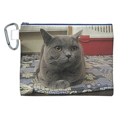 British Shorthair Grey Canvas Cosmetic Bag (XXL)
