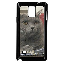 British Shorthair Grey Samsung Galaxy Note 4 Case (Black)
