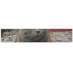 British Shorthair Grey Flano Scarf (Large)