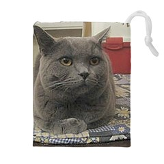 British Shorthair Grey Drawstring Pouches (Extra Large)