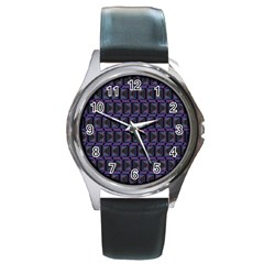 Psychedelic 70 S 1970 S Abstract Round Metal Watch
