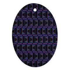 Psychedelic 70 S 1970 S Abstract Ornament (Oval)