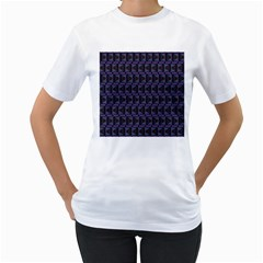 Psychedelic 70 S 1970 S Abstract Women s T-Shirt (White) (Two Sided)
