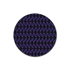 Psychedelic 70 S 1970 S Abstract Rubber Round Coaster (4 pack)
