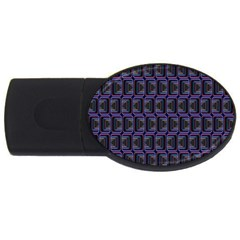 Psychedelic 70 S 1970 S Abstract USB Flash Drive Oval (4 GB)