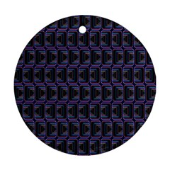 Psychedelic 70 S 1970 S Abstract Round Ornament (Two Sides)