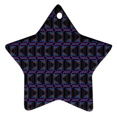 Psychedelic 70 S 1970 S Abstract Star Ornament (Two Sides)