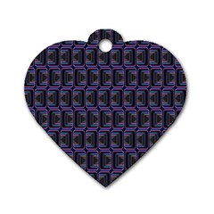 Psychedelic 70 S 1970 S Abstract Dog Tag Heart (Two Sides)