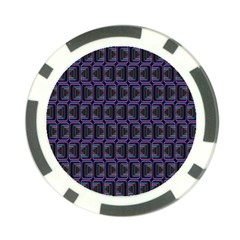 Psychedelic 70 S 1970 S Abstract Poker Chip Card Guard (10 pack)