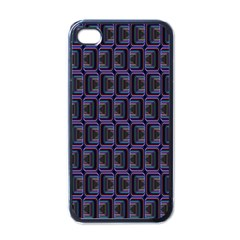 Psychedelic 70 S 1970 S Abstract Apple iPhone 4 Case (Black)