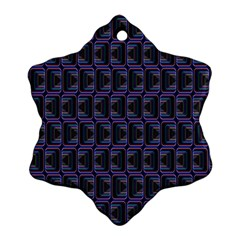 Psychedelic 70 S 1970 S Abstract Snowflake Ornament (Two Sides)