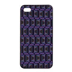 Psychedelic 70 S 1970 S Abstract Apple iPhone 4/4s Seamless Case (Black)